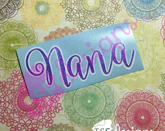 Double Layer Glitter Name decal