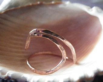 14 1/2 Copper Wave ring