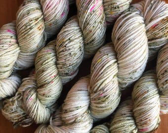 """hand dyed yarn, worsted weight """"vintage love letter"""""""