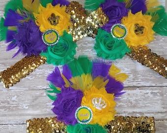 Mardi Gras Bachlortte  Party Headbands Mardi Gras Party Mardi Gras Wedding Louisiana Party