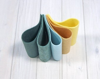 Felt Bundle - A Day at the Beach - Wool Blend Felt Sheets, 9 x 12 inches