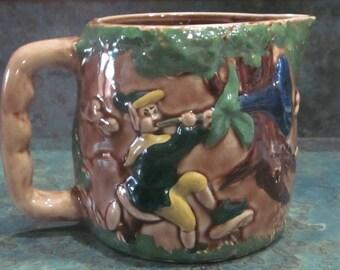 Elf Pottery Pitcher 1950 Era
