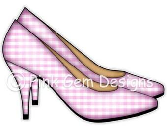 Digi Stamp  Ladies Shoes