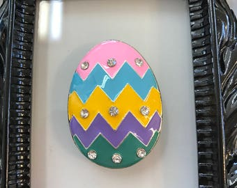 Spring Chevron Egg  Needle Minder