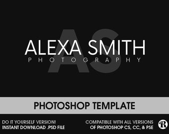 Photography Logo Instant Download Photoshop Template Psd Logo