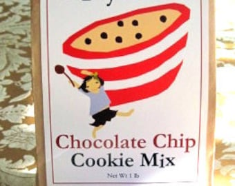 Classic chocolate chip cookie mix kit  perfect Valentines day and hostess gift imported gourmet chocolate