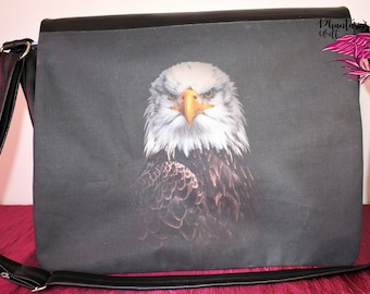 "Messengerbag /shoulderbag ""Buddy"" with eagle"