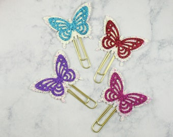 Butterflies Planner paper Clips, Set Of 2 Planner Paper Clips, Traveler Notebook, Planner Accessories, Bookmark, Erin Condren, Happy Planner
