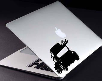 Retro Car Laptop Decal Car Macbook Sticker Mountain Trip Mac Decal Ski Laptop Sticker