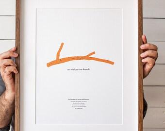 Ceci n'est pas une branche - ArtPrint, Poster, WallArt