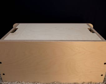 Birch Ply/American Black Walnut Toy Box/Blanket Box/Coffee Table