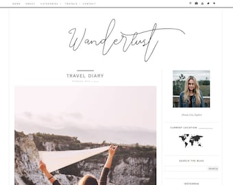 Blogger Template - Blog Theme - Premade Blog Themes - Responsive Blog Templates - Blog Design - Blogger - Travel - Lifestyle - Fashion