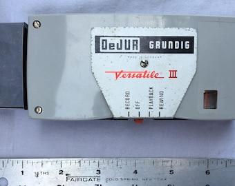 Grundig Pocket Tape Recorder DeJur Versatile III 1960s