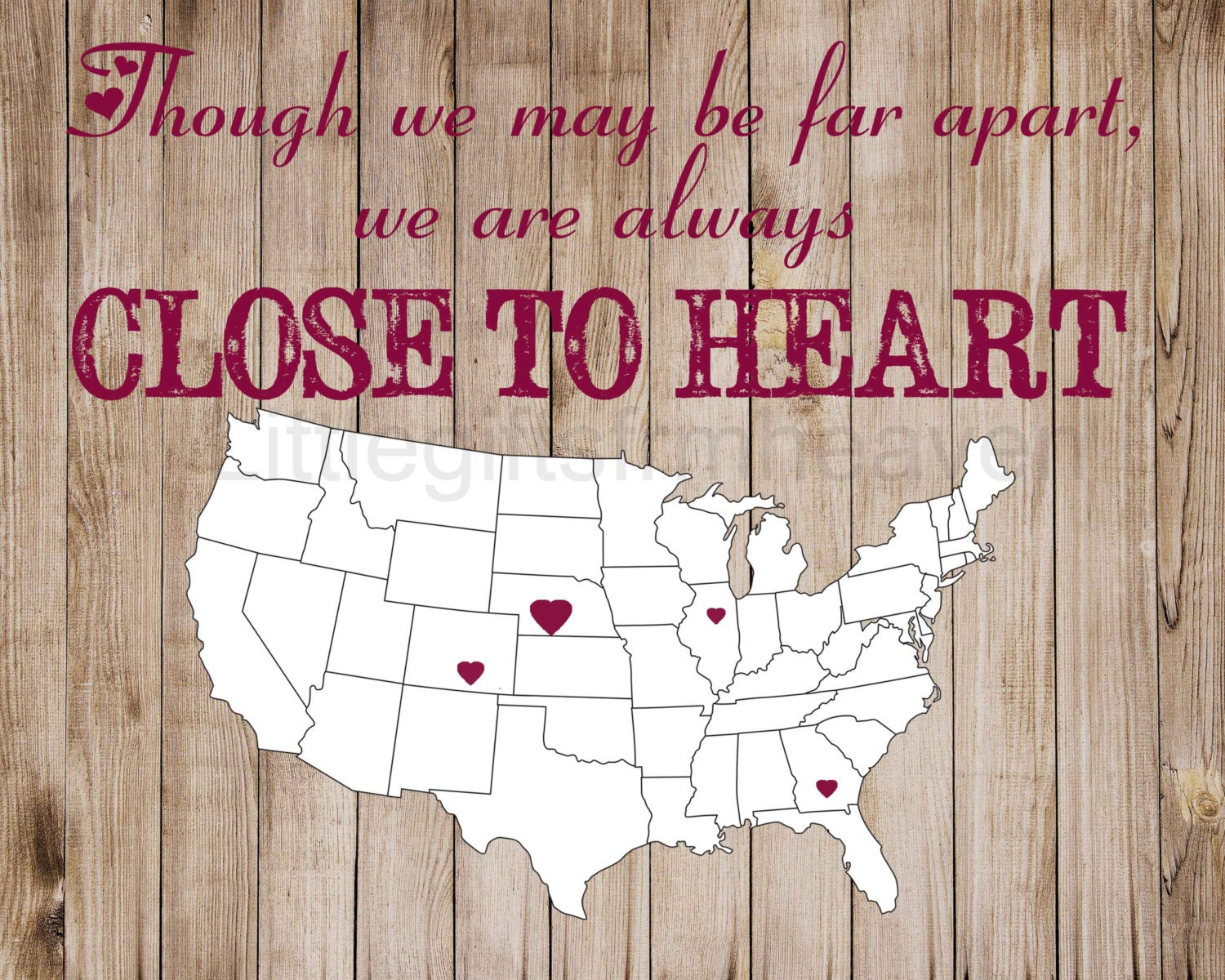 Close to heart map print dad fathers day grandpa grandma zoom gumiabroncs Images