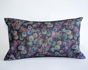 Floral Maze Pillow Cover 12x18. Decorative Pillow Case. Pillows for couch. Unique Pillow Colorful Pillows