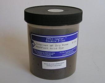 Dye Powder Protein DRY ROSE Wash Fast Acid Dye Pro Chemical and Dye LARGE 8 oz powder dye for wool silk fur feathers leather nylon fiber jar