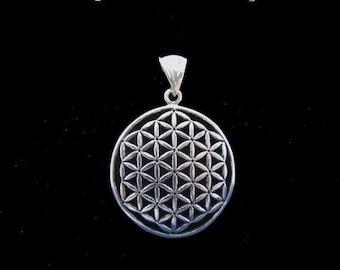 Original Large Flower of Life Pendant 925 Sterling Silver, Fleur de Vie, Flower of Life Charm, Sacred Geometry Jewelry