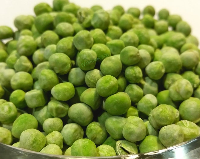 Freeze Dried Peas No additives No gluten no soy no sulfites Taste like you just picked out of the garden