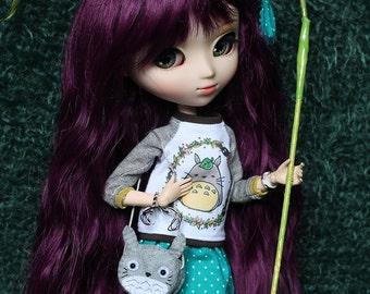 Grey Totoro  Bag 1/6, Cushion 1/6, Brooch or Keychain  Tsum Tsum for Blythe, Pullip, ...