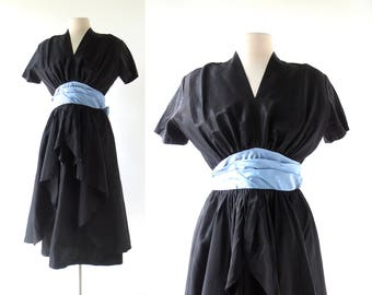 1940s Cocktail Dress | Night and Day | 40s Dress | Small S