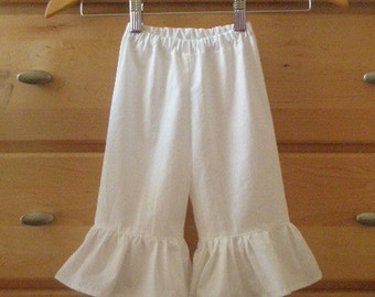 Childs ruffle capris or long pants size preemie up to 10 any color