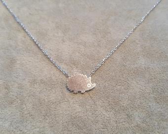 Hedgehog necklace, hedgehog gift, hedgehog jewelry, cute hedgehog, funny hedgehog gift, hedgehog owner gift-hedgehog lovers-minimal hedgehog