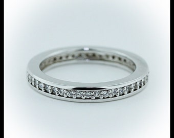Diamond Eternity Wedding Band Platinum Custom Bridal Jewelry Yellow Gold Rose Gold Platinum Ladies Wedding Band -  Channel of Love