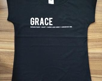 Custom Girls Name T-Shirt