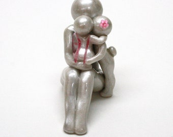 Mother or Grandmother of Two memorial sculpture - love legacy gift - add additional children - made to order