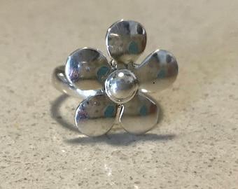 Simple Flower Adjustable Ring
