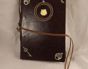 steampunk journal, journal, cat journal, notebook, steampunk notebook, steampunk cat
