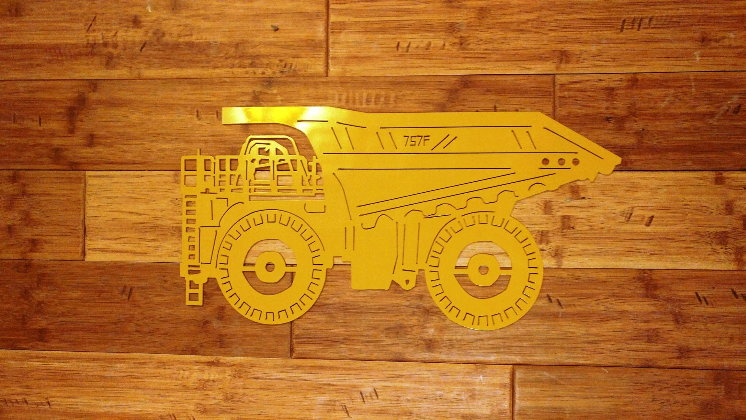 Custom Metal CAT 757F Dump Truck Can be Personalized with