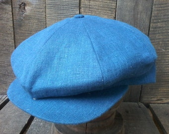 Made to order Linen 8 panel newsboy cap