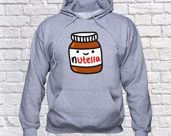 Nutella Smile sweatshirt/ Nutella hoodie/ Nutella Fan pullover/ Nutella Jar sweater/ jumper/ Chocolate/ hoody/ Nutella gift/ Nutela/ (B45)