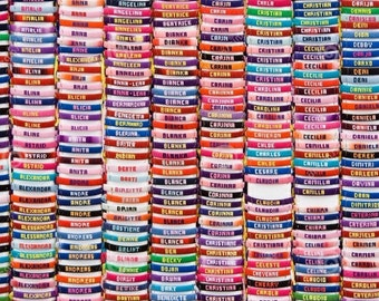 More colours. Customized Friendship Name Bracelets