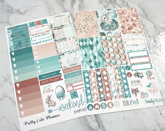 Happy Planner Stickers - Weekly Planner - Functional stickers - Easter Stickers - Spring Sticker - Easter bunny Stickers - Happy Easter 2018