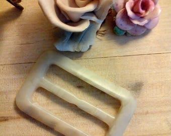Vintage Faux Horn  Plastic Buckle