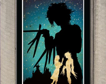 Edward Scissorhands Art Film Poster Classic Movie Poster
