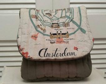 Amsterdam Saddle Bag, crossbody bag, vegan purse, travel bag, small bag