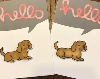 Golden retriever cards, golden retriever greeting cards, cards set, greeting cards set, set of 2, golden retriever gift, dog lover gift