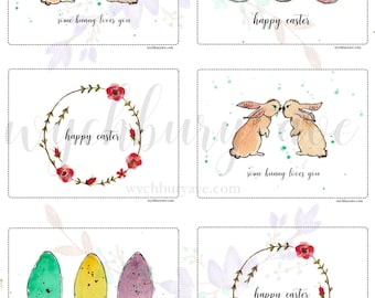Printable Easter Cards / Happy Easter Messages / Some Bunny Loves You / Happy Easter Wishes for Friends / For Kids / For Teachers