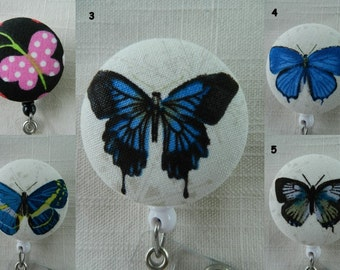 Butterfly design Retractable ID, Name badge Holder Reels