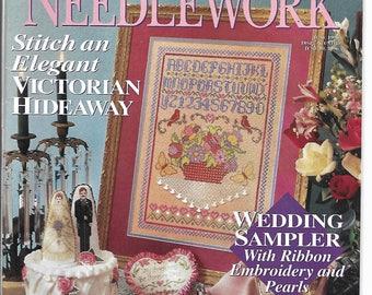 Cross Stitch & Needlework Magazine June 1996 - wedding, Victorian, ornaments, Christmas, fishing and more