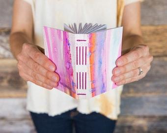 Watercolor painted notebook / sketchbook