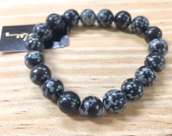 Snowflake Obsidian semi-precious Bracelet