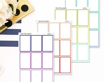2 Box Planner Stickers for Plum Paper ME 7 x 9 Planners / Functional Stickers/ Monthly Sticker Set #355