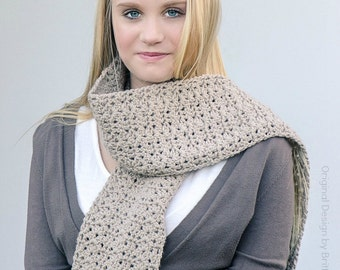 Crochet Scarf Pattern - Willow Scarf Crochet Pattern No.511 Instant Download Digital PDF English