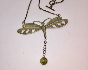 Dragonfly Stone Necklace