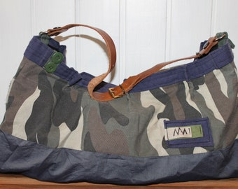 Navy Camouflage Bag
