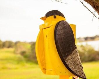 Amish Handcrafted Goldfinch Bird Feeder